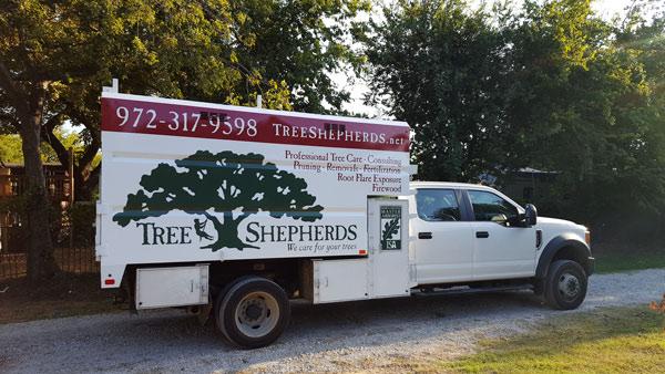 Tree Shepherds tree service truck